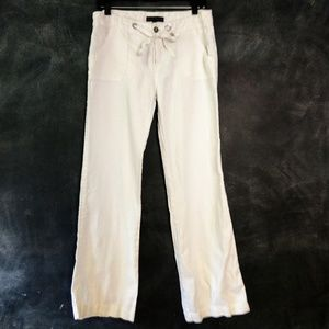 SANCTUARY | White Linen Beachcomber Pants Size 29